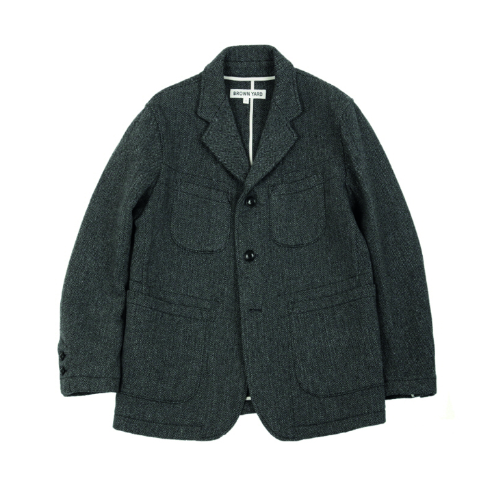 [브라운야드] UTILITY JACKET_GREY HERRINGBONE