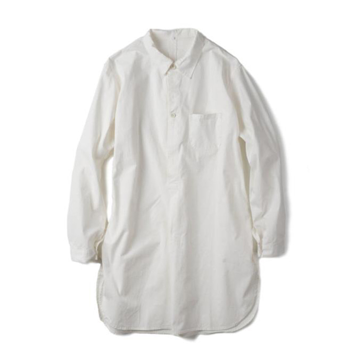 [YMCL KY] Sweden Type Grandpa Shirt 'White'