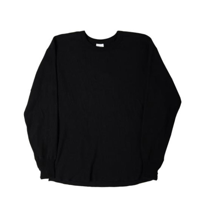 [니들워크] MILLSPEC THERMAL ROUND SHIRTS(BLACK)