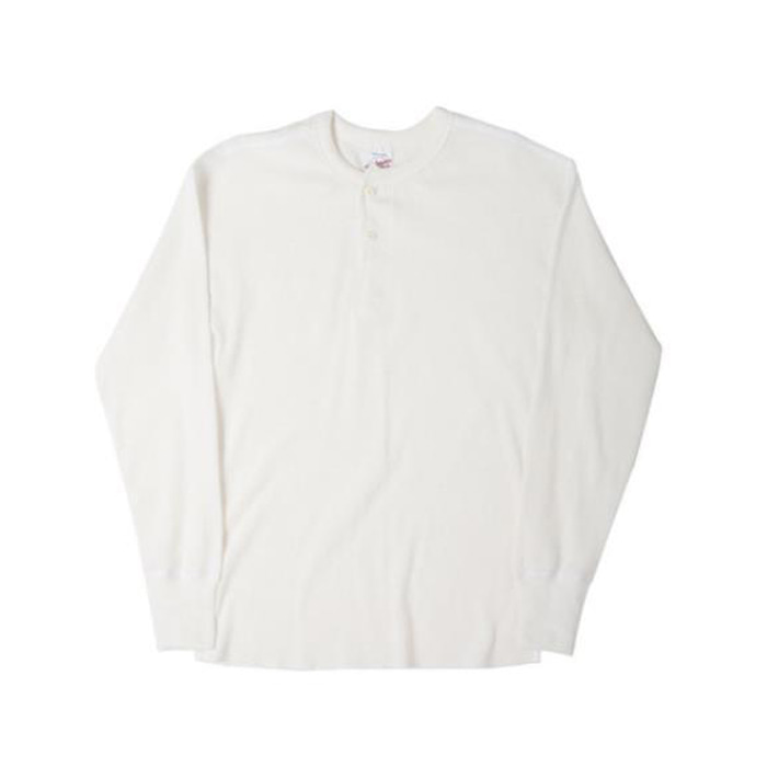 [니들워크] MILLSPEC THERMAL HENLEY SHIRTS(OFF WHITE)