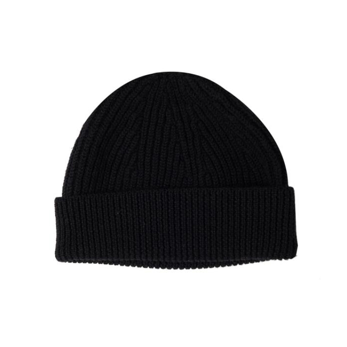[니들워크] KNIT BEANIE-TYPE SHORT _ Black