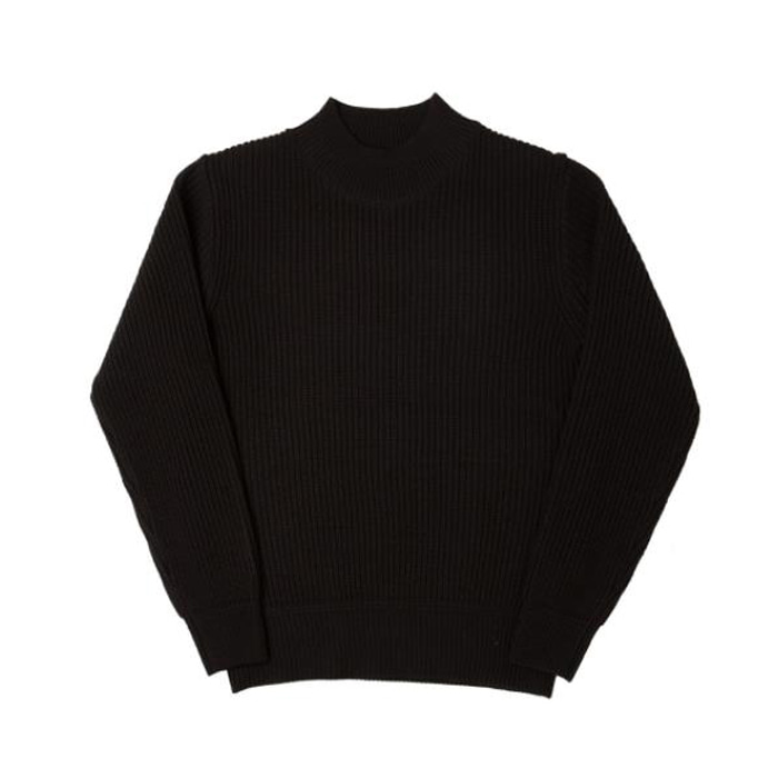 [니들워크] MIL CREW KNIT(FOR WINTER)-BLACK