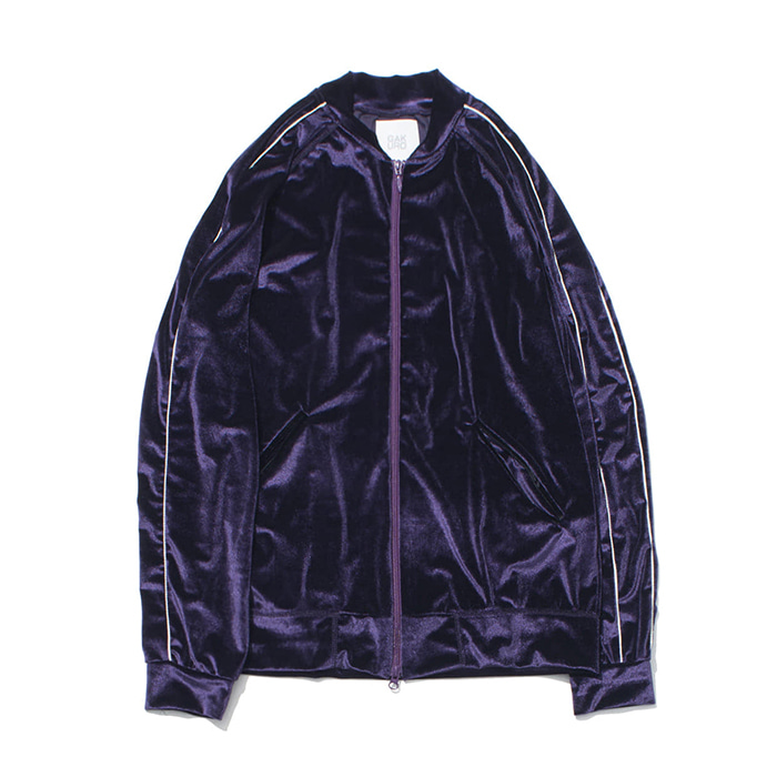 "[가쿠로] Velvet Souvenir Track Jacket ""Purple"""