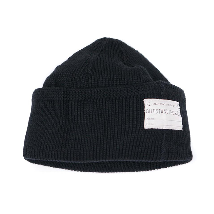 [아웃스탠딩] O.S.NAVY WATCH CAP [BLACK]