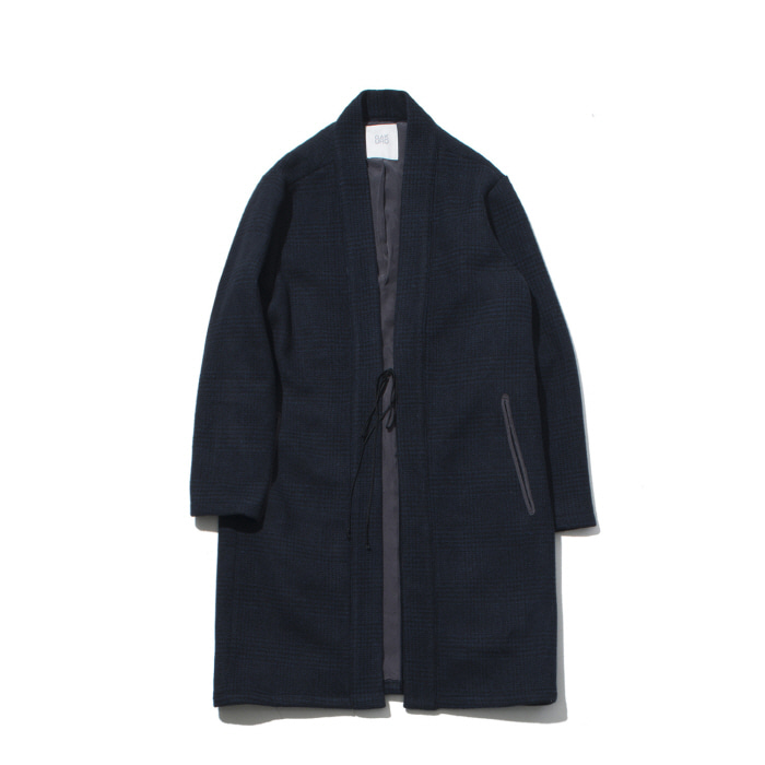 [가쿠로] Oriental wool coat (Black / Navy)