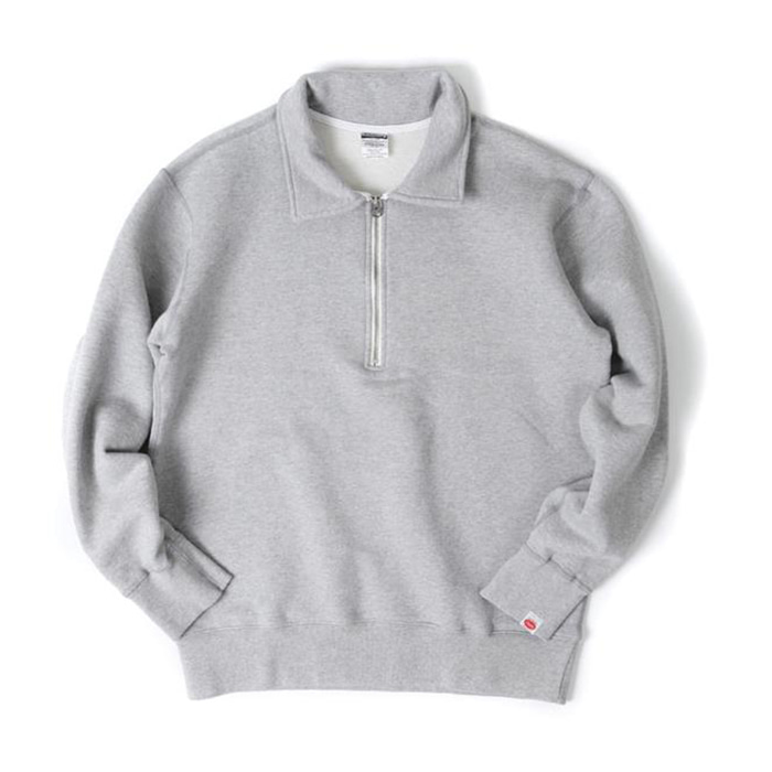[아웃스탠딩] HALF ZIP NECK SWEAT SHIRT_Gray