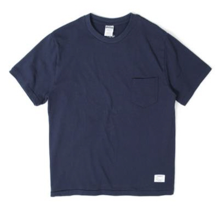 아웃스탠딩 STANDARD POCKET CREWNECK [NAVY]