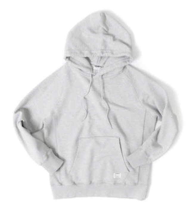 아웃스탠딩 HOODED SWEAT SHIRT  [MELANGE GRAY]