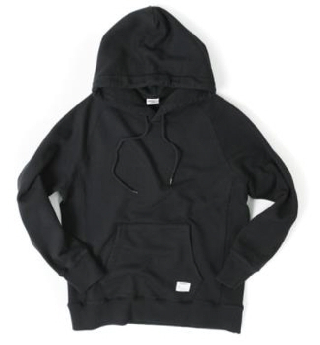 아웃스탠딩 HOODED SWEAT SHIRT  [BLACK]