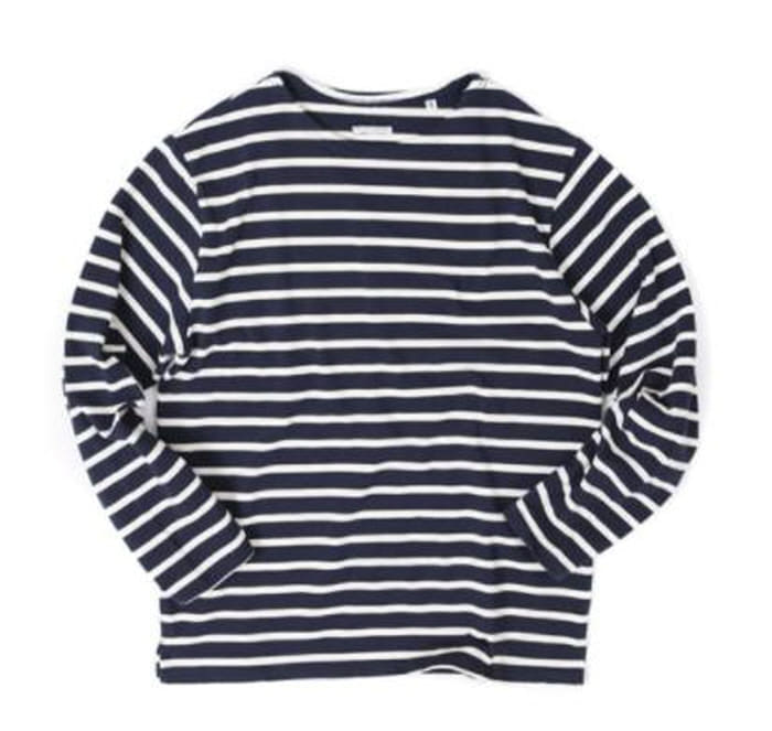 아웃스탠딩 BOAT NECK LONG SLEEVE [NAVY/IVORY]