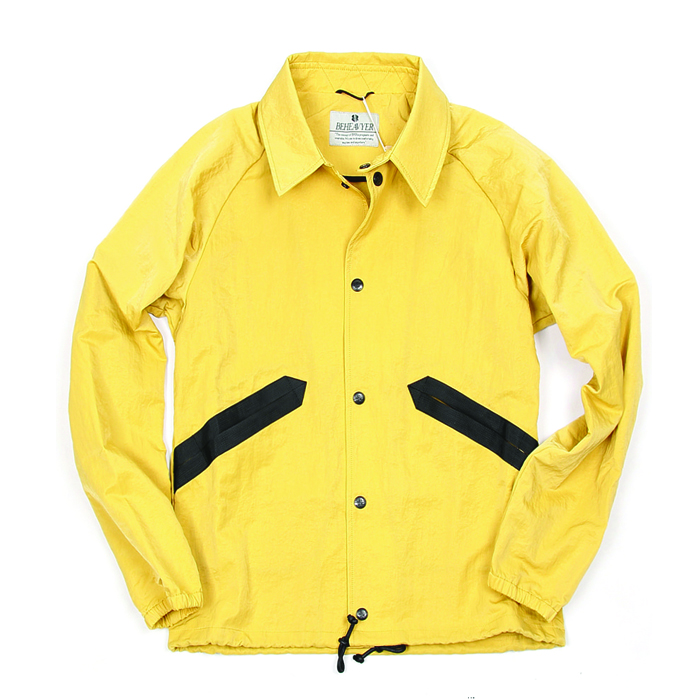비헤비어 COACH JACKET_YELLOW