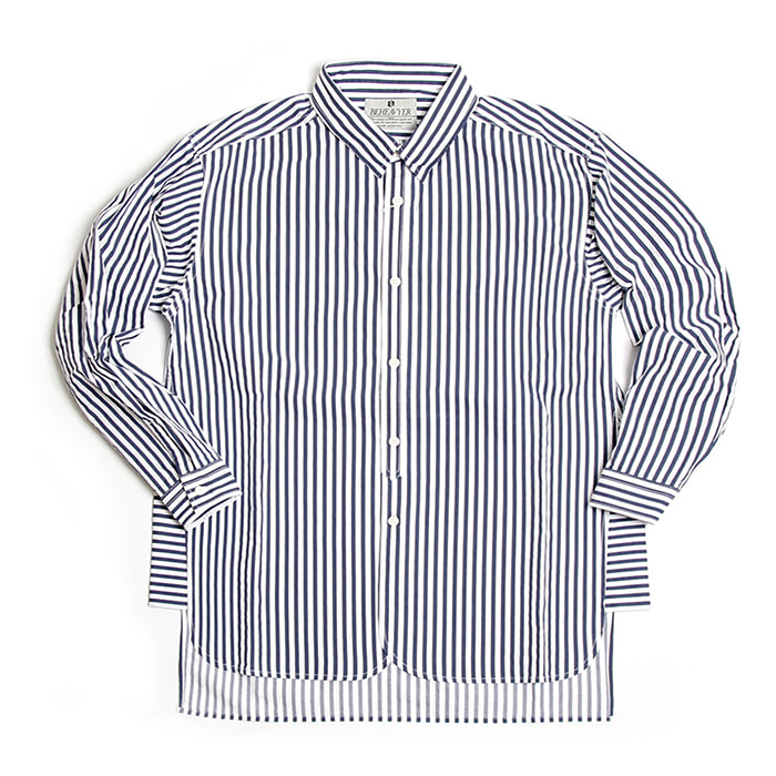 비헤비어 Fly shirts_NAVY STRIPE