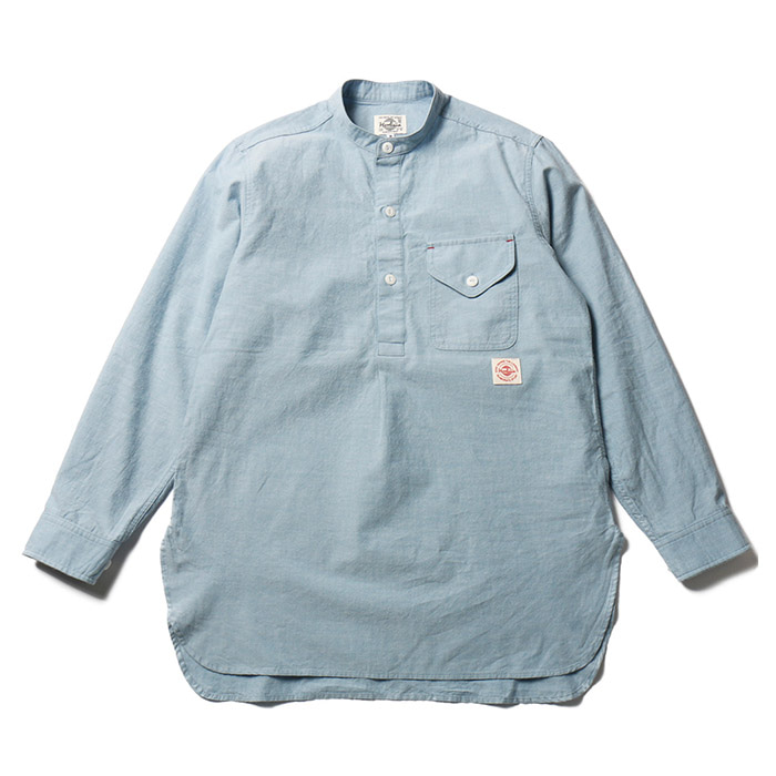 홀리선 Stanley Indigo Chambray Tunic Shirts_Blue (Japan Fabric)