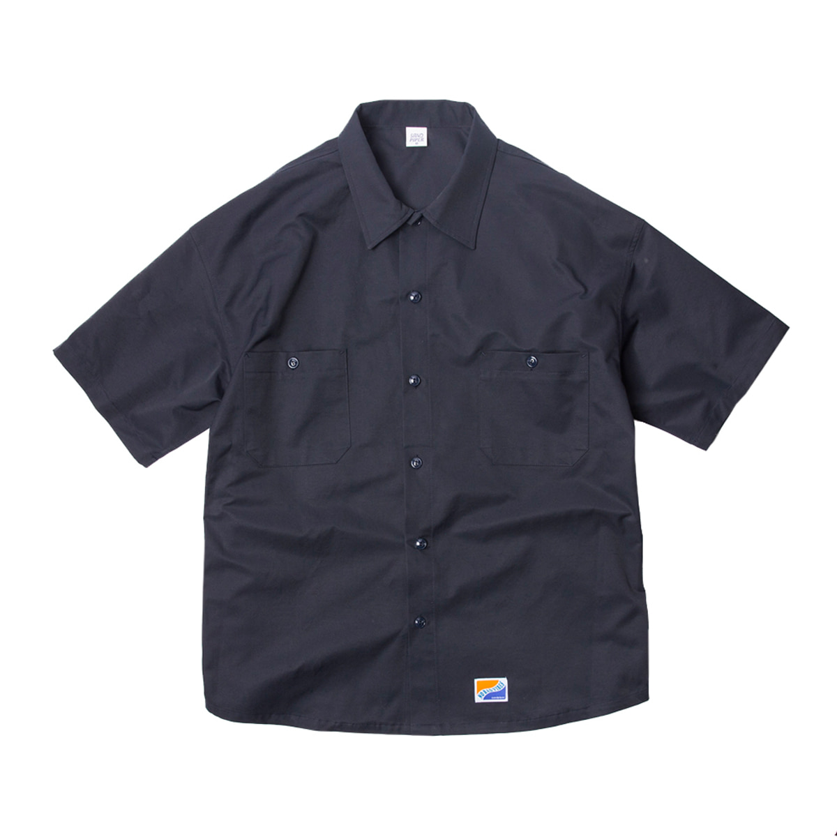 샌드파이퍼 BASIC OVERSIZED SHIRT_NAVY