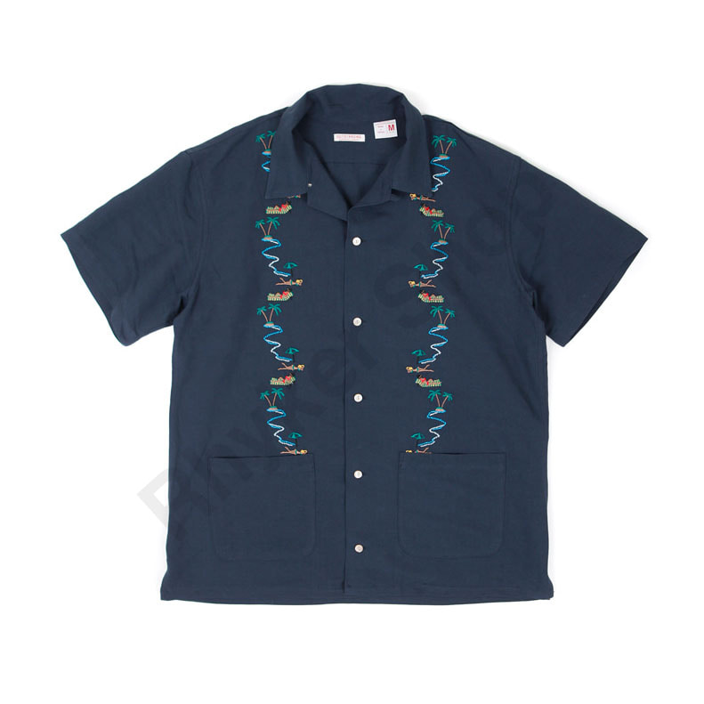 아웃스탠딩 HAWAIAN SOUVENIR SHIRT [NAVY]