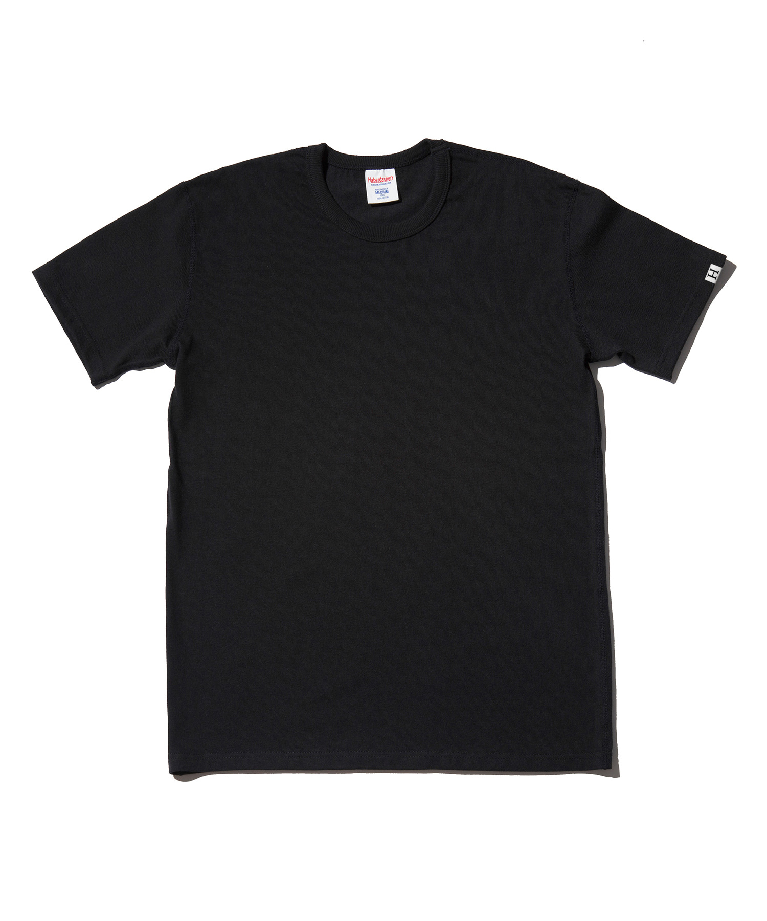 해버대셔리 PLAIN CREW NECK SHORT SLEEVE_BLACK
