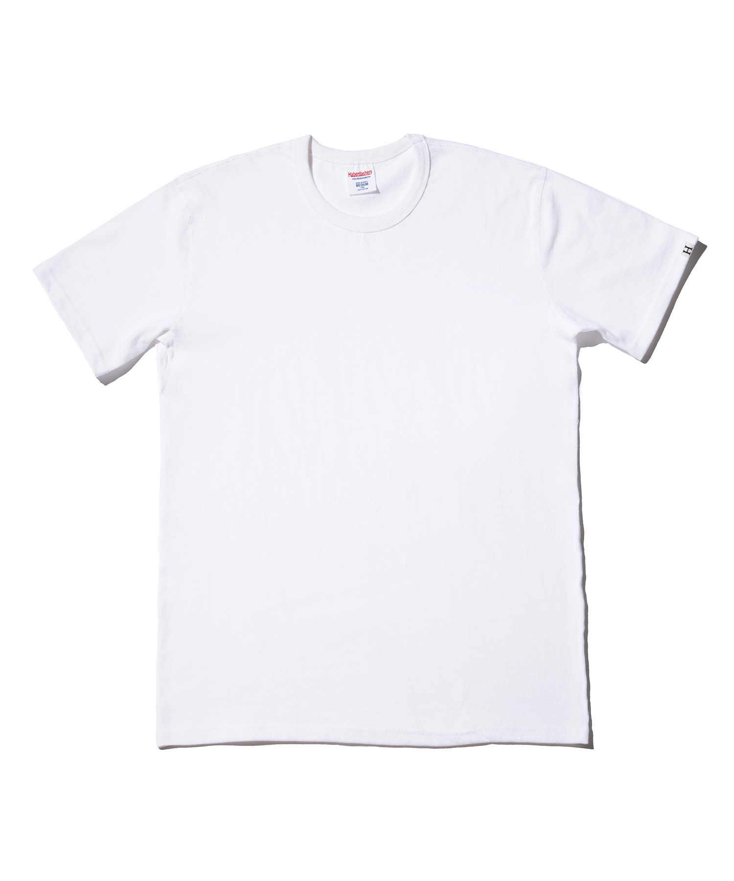 해버대셔리 PLAIN CREW NECK SHORT SLEEVE_WHITE