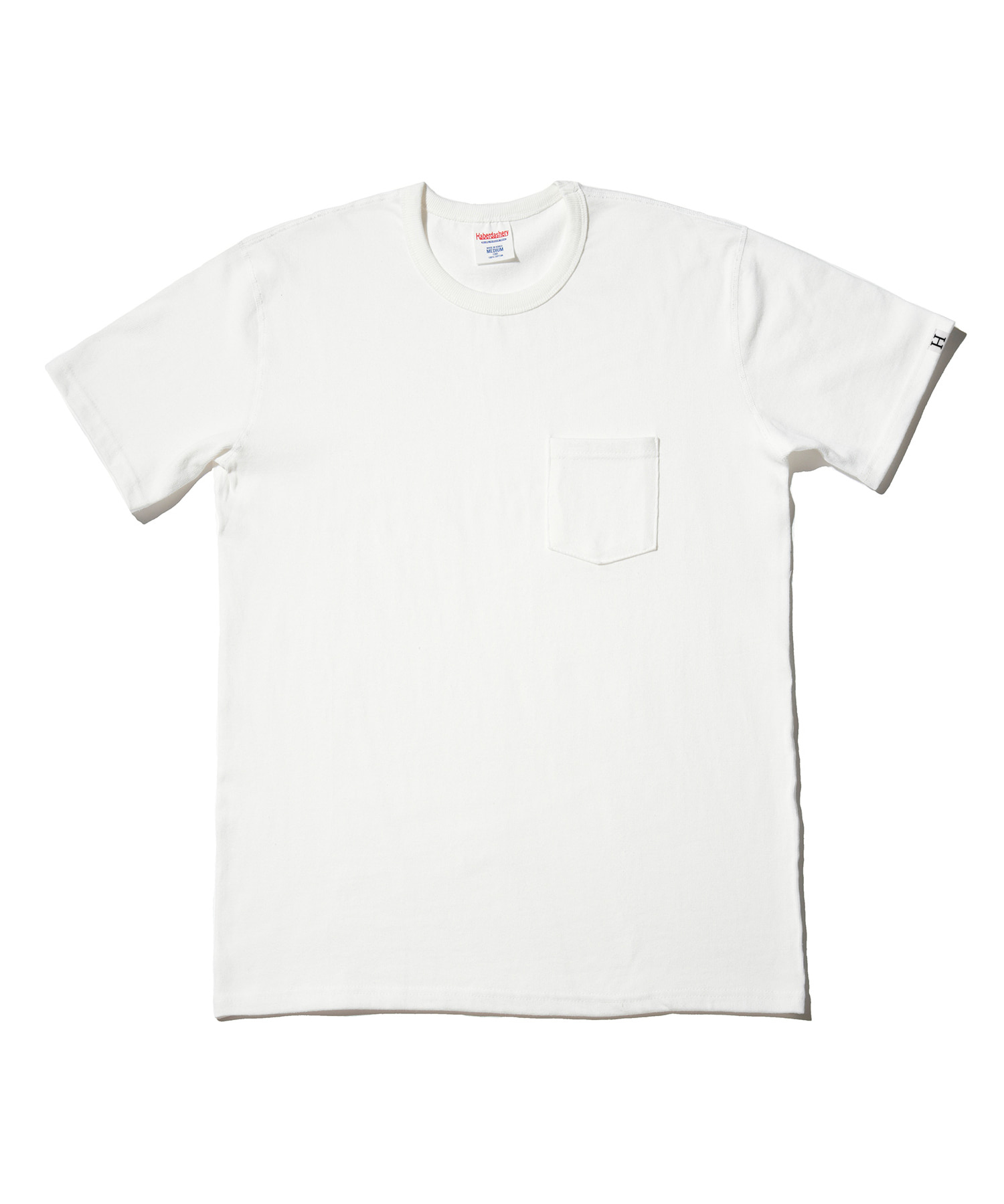해버대셔리 POCKET CREW NECK SHORT SLEEVE_IVORY