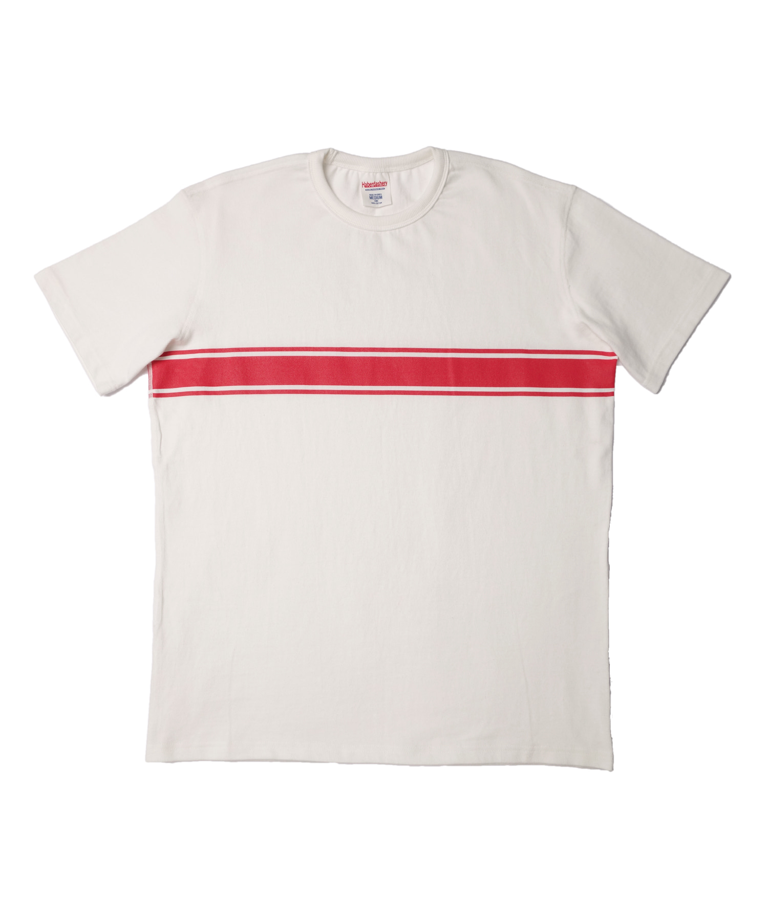 해버대셔리 STRIPE BORDER SHORT SLEEVE_IVORY