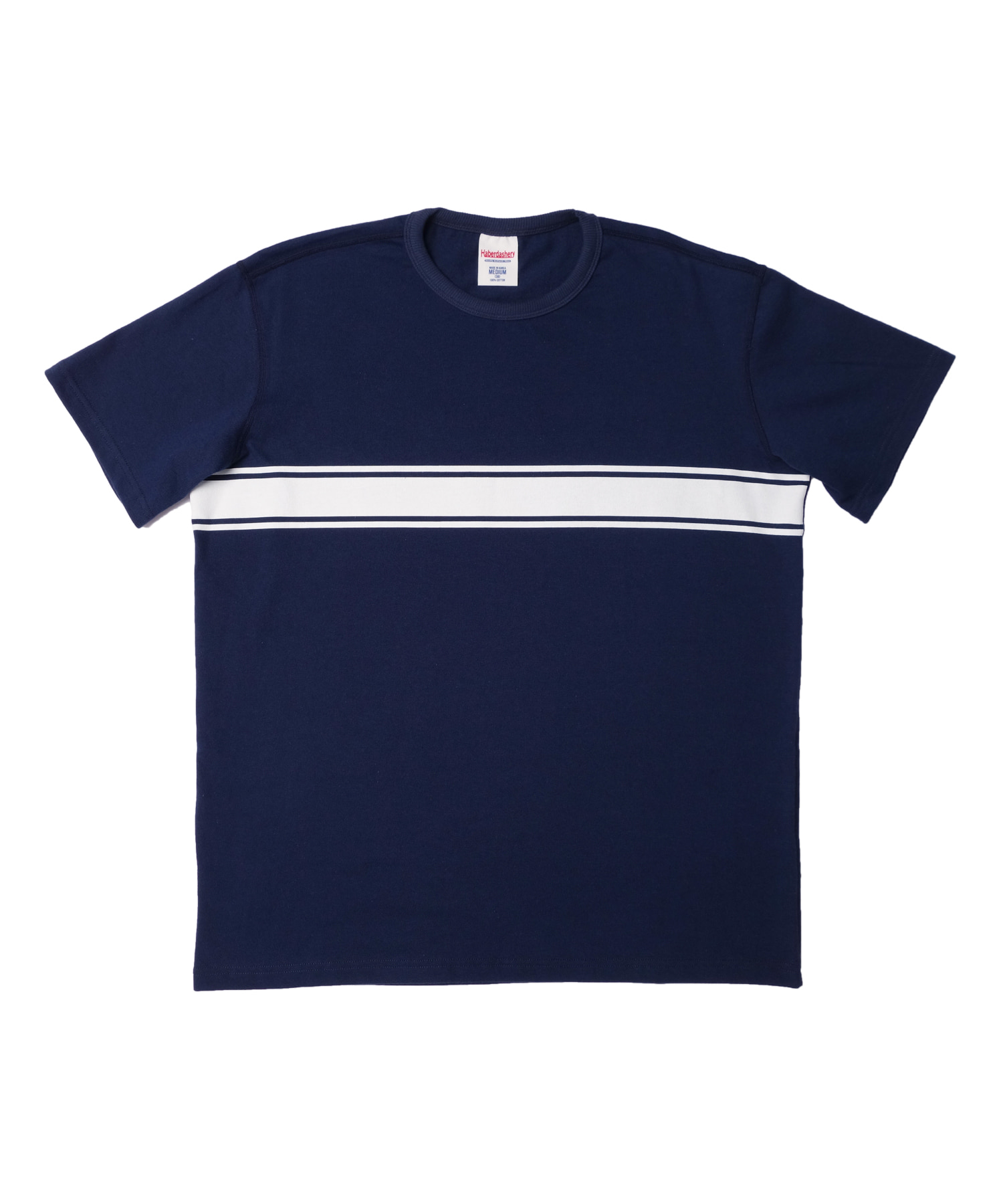 해버대셔리 STRIPE BORDER SHORT SLEEVE_NAVY