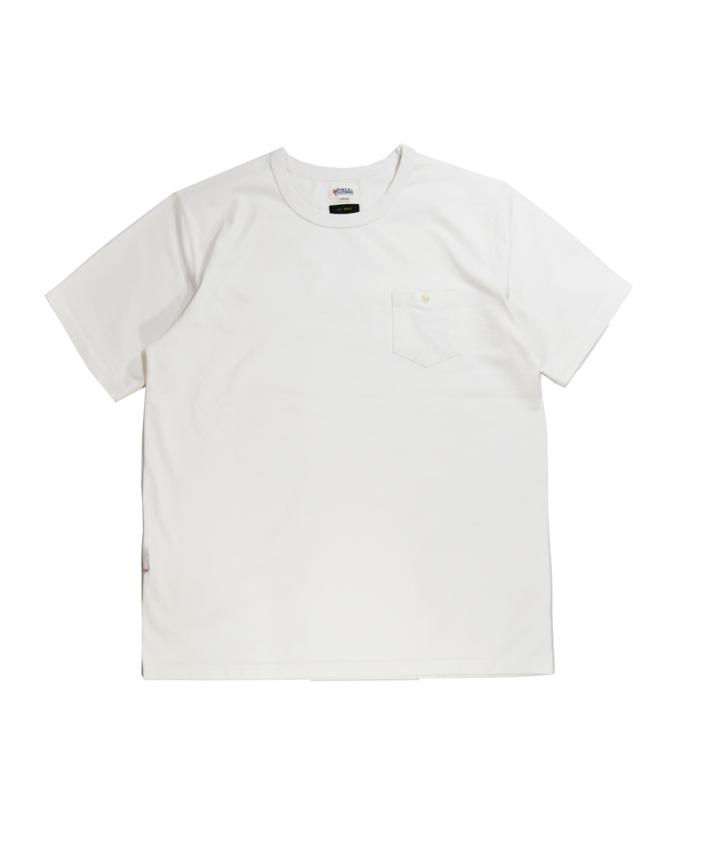 네이머클로딩 STANDARD POKET T-SHIRT_WHITE