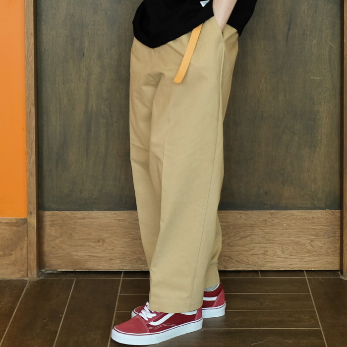 데일리인 Daily inn RECEPTION PANTS (WIDE TAPERED)_BEIGE (HIGH DENSITY CN 1/2 TWILL)