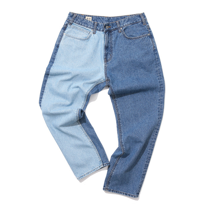 공백 Two Face Contrast Straight Denim(GDP18002)