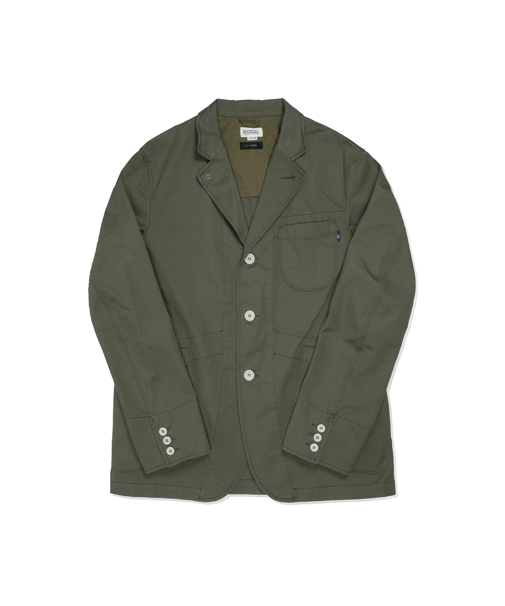 네이머클로딩_SET-UP SPORTS JACKET_olive
