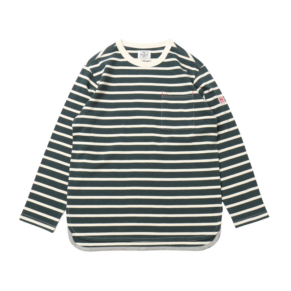 홀리선 Powell Pocket Stripe T-shirts_BLUE