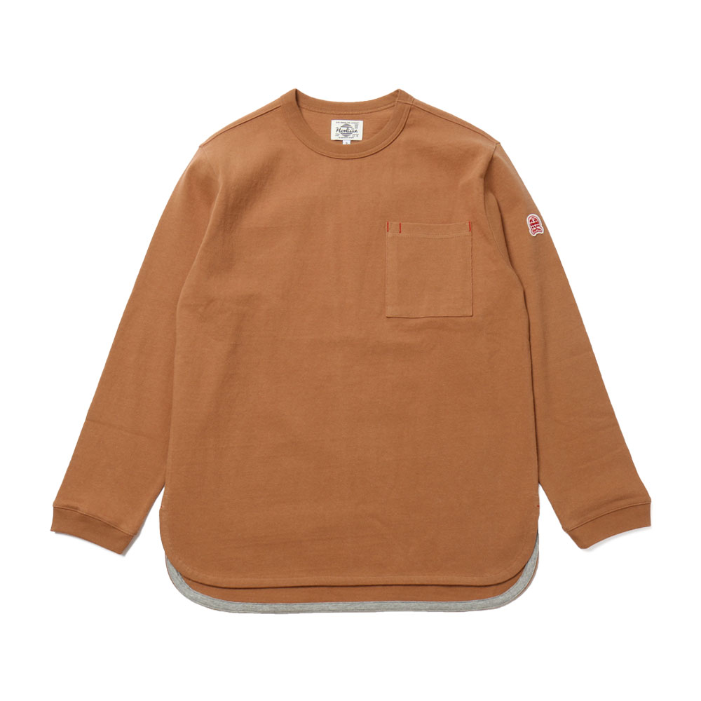 홀리선 Emery Long Sleeve Pocket T-shirts_CAMEL