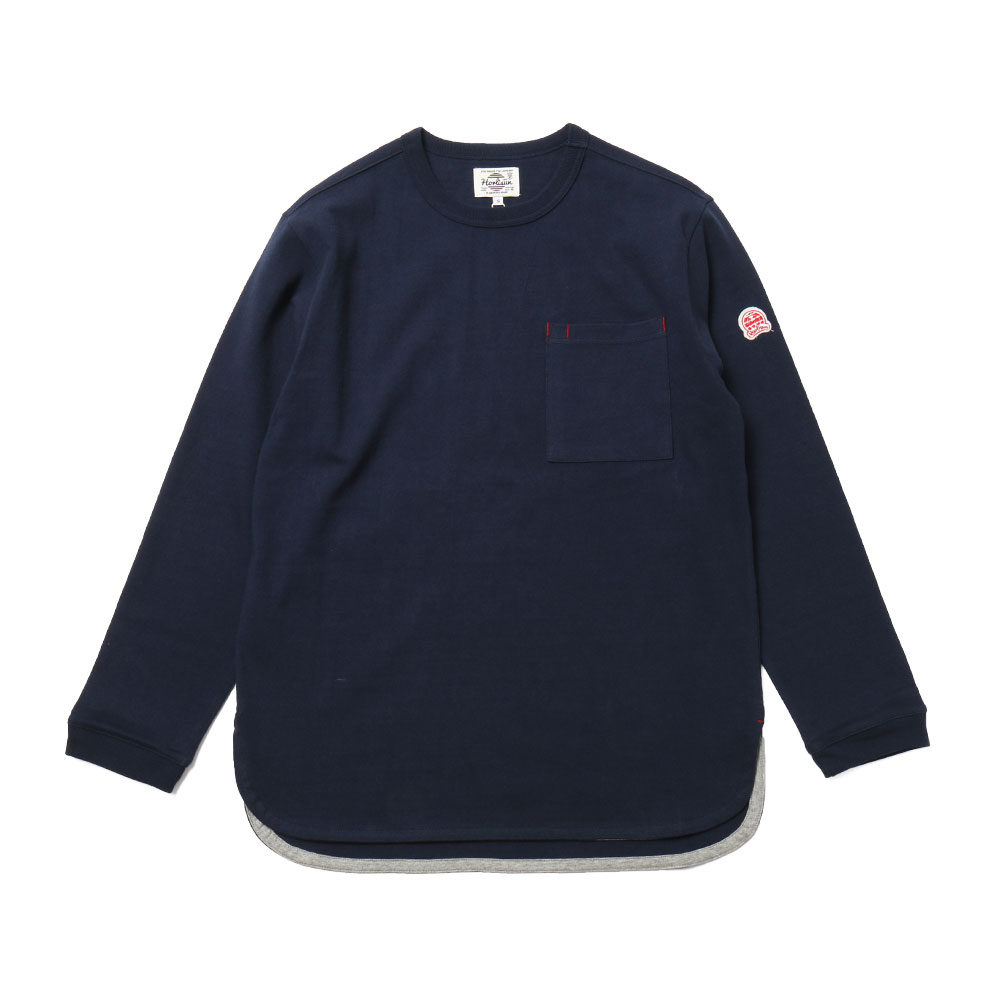 홀리선 Emery Long Sleeve Pocket T-shirts_NAVY