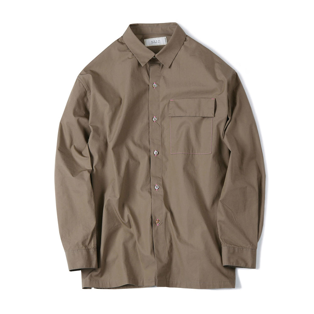 셔터 FISHING LINE POPLIN SHIRT_Beige