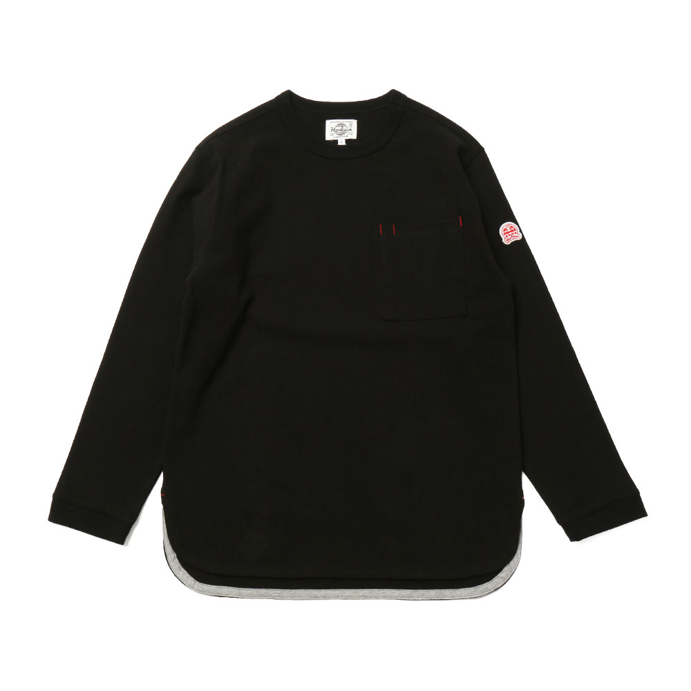홀리선 Emery Long Sleeve Pocket T-shirts_BLACK