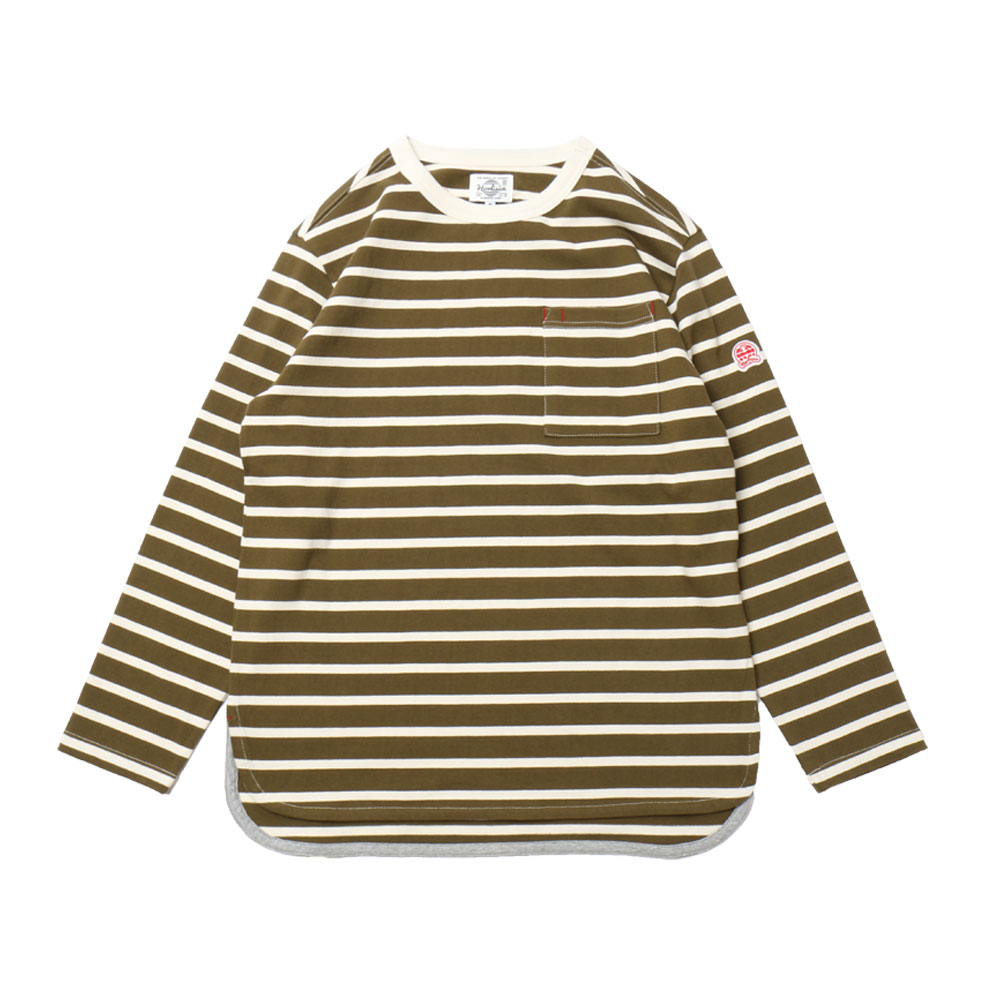 홀리선 Powell Pocket Stripe T-shirts_OLIVE