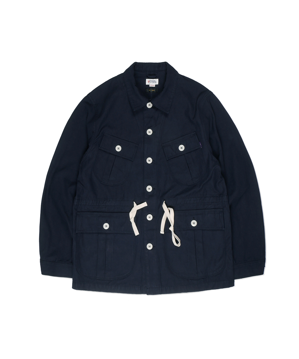 네이머클로딩 BACK SATIN JUNGLE FATIGUE JACKET_Navy