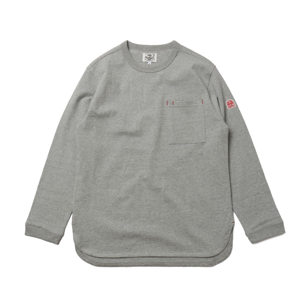 홀리선 Emery Long Sleeve Pocket T-shirts_GRAY