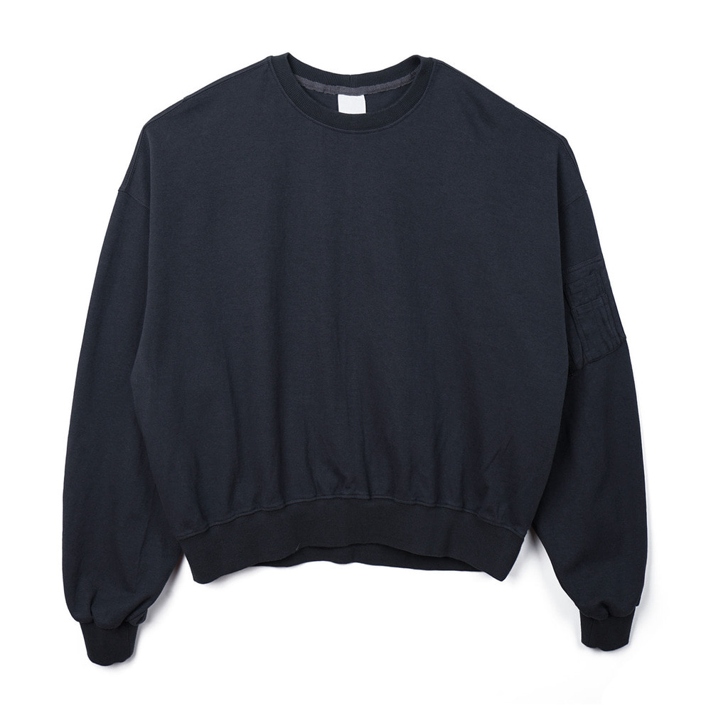 오파츠 MA-1 cotton jersey sweatshirt_Charcoal