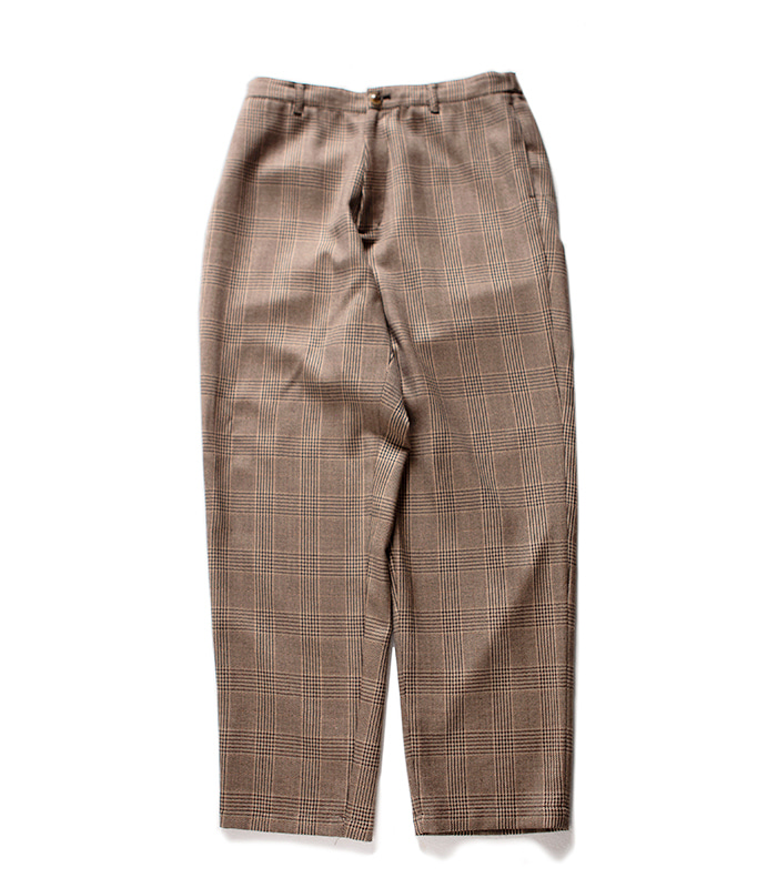 브라운야드 Wide Pants_Brown Check