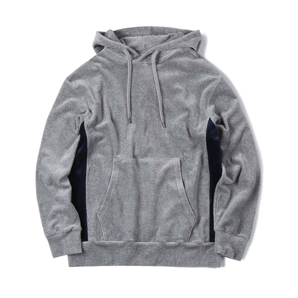 셔터 VELOUR SWEAT PARKA_Grey