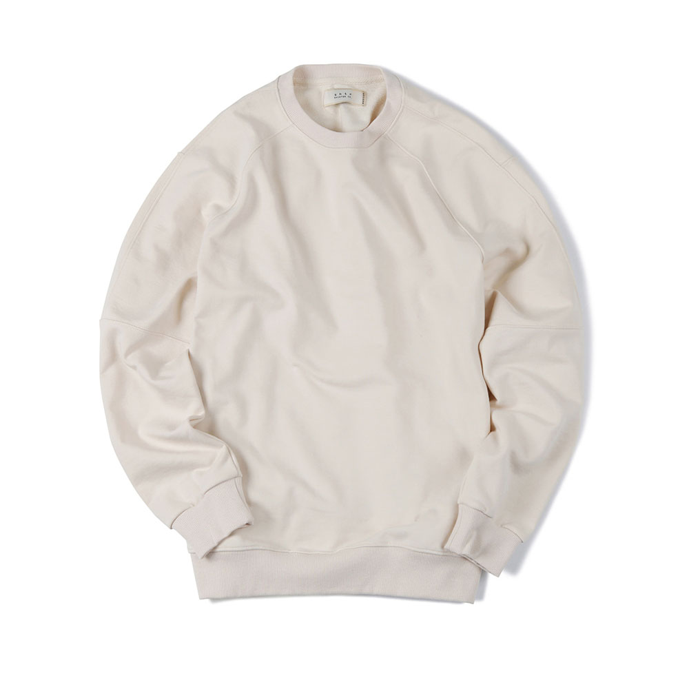 셔터 OVERSIZE CREW-NECK SWEAT SHIRT_Ivory