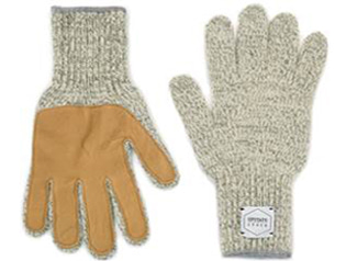 업스테이트스탁 Wool Glove (Palm Leather)_Oatmeal