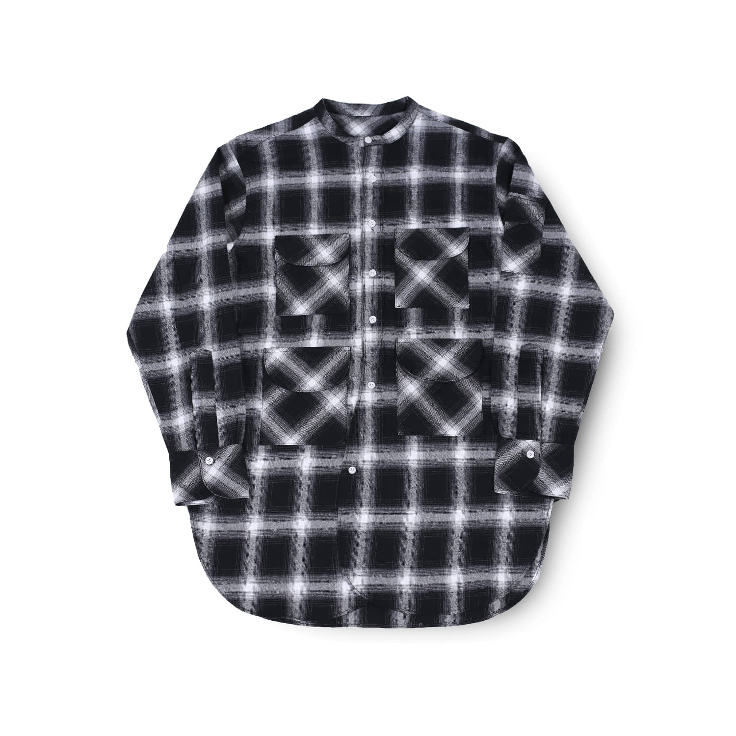 발루트 FISHERMAN TUNIC SHIRT_Grey Check
