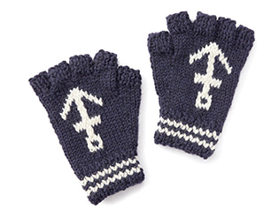 블랙쉽 Anchor Fingerless_Navy/Ecru