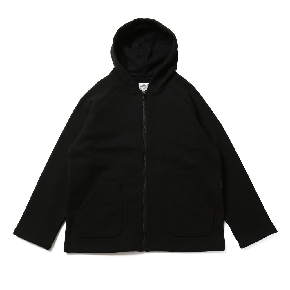 홀리선 Willow Zipup Pocket Heavy Cotton Hoodie Jacket_Black