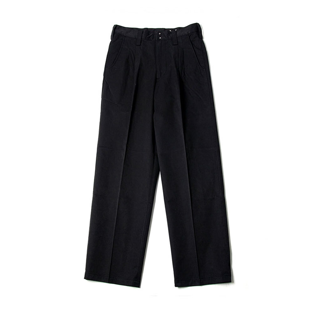 비헤비어 BHR TWO PLEATED WIDE PANTS_Black