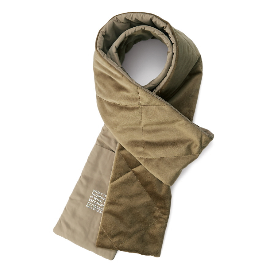 서브라임 Pocket Velour Muffler_Camel