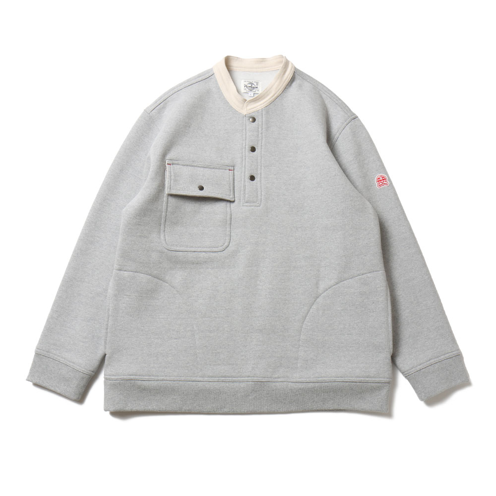 홀리선 Forest Collar Button Heavy Cotton Pullover_Gray