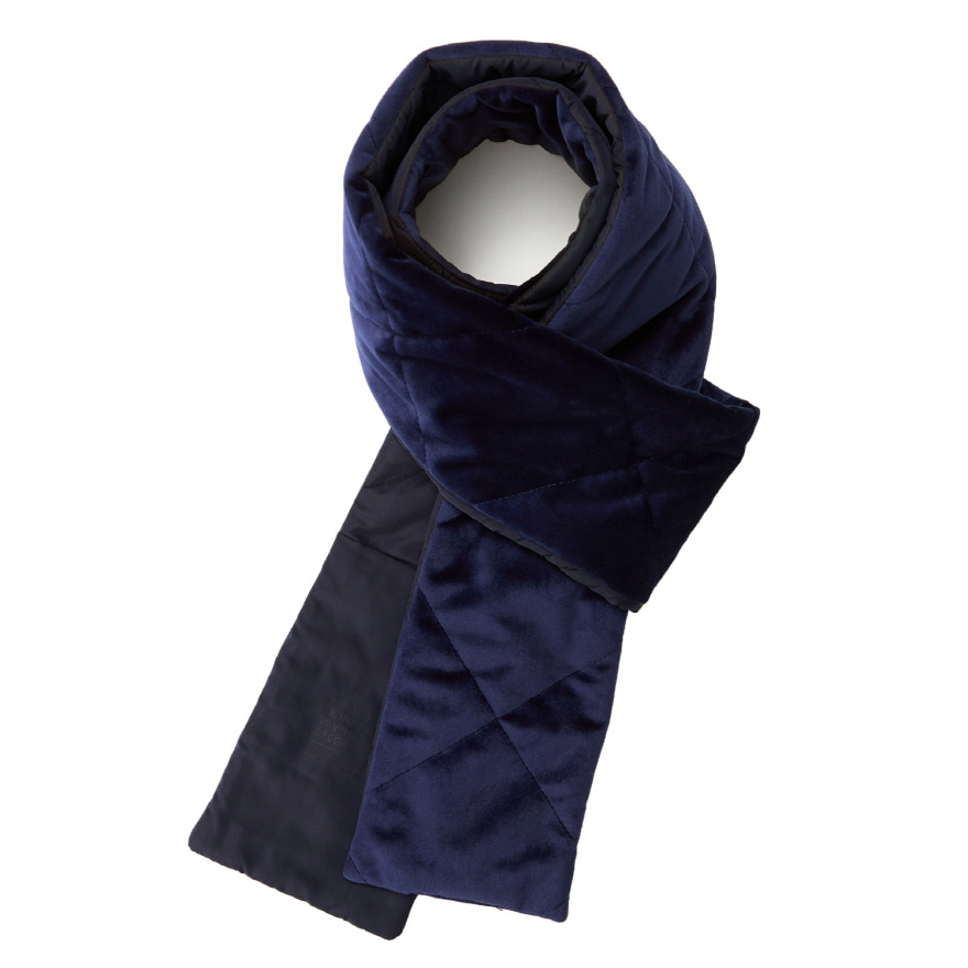 서브라임 Pocket Velour Muffler_Navy