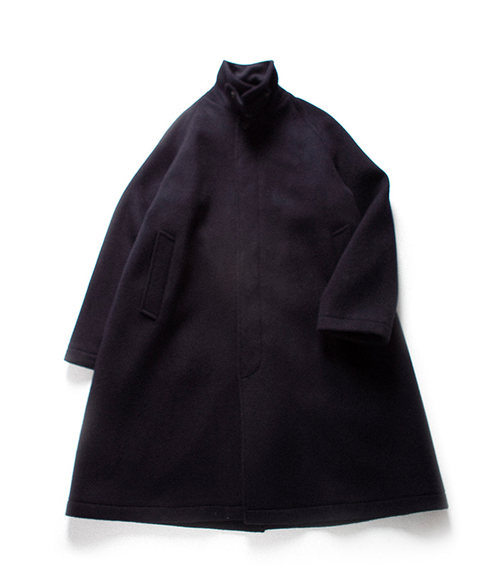 브라운야드 Balmacaan Coat_Navy