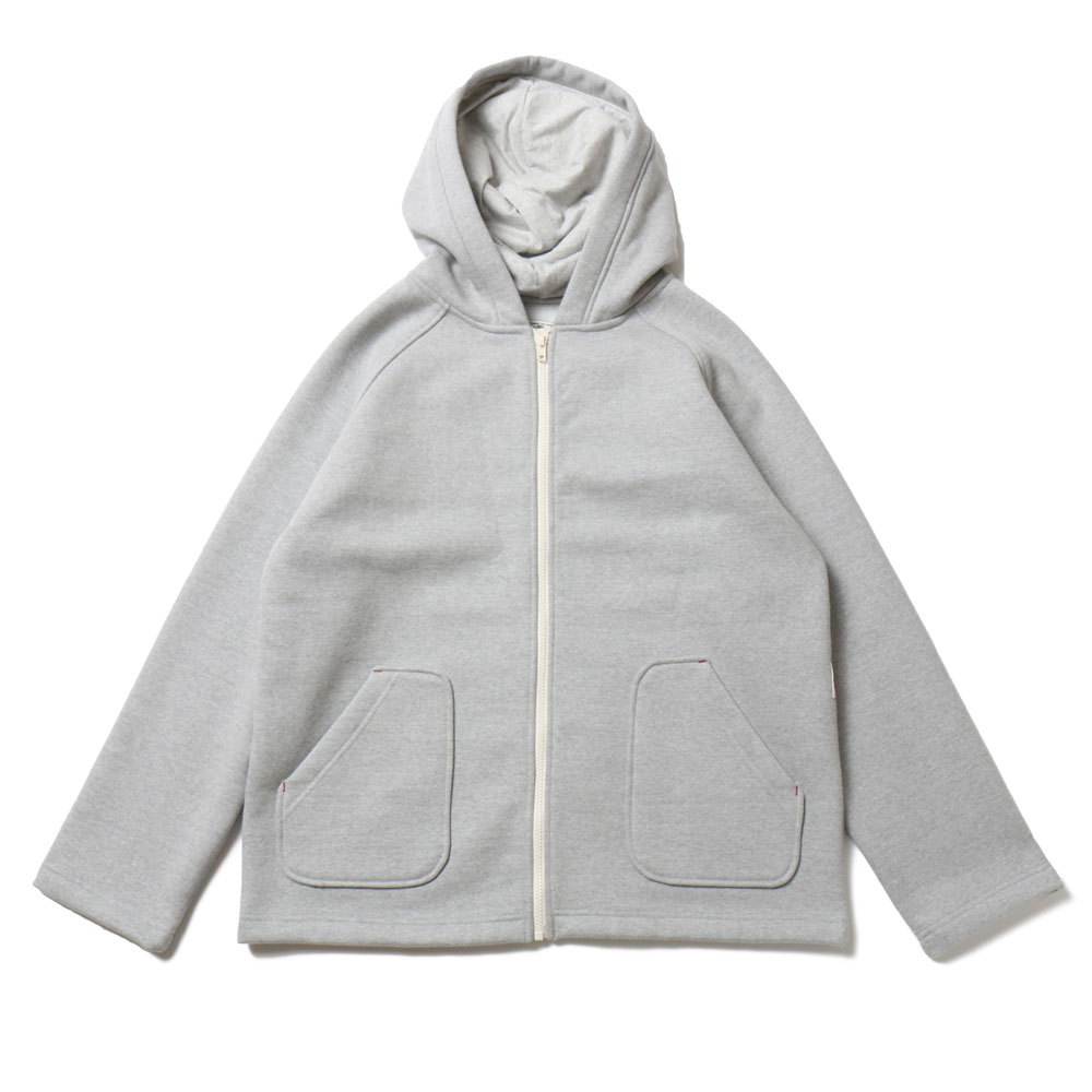 홀리선 Willow Zipup Pocket Heavy Cotton Hoodie Jacket_Gray